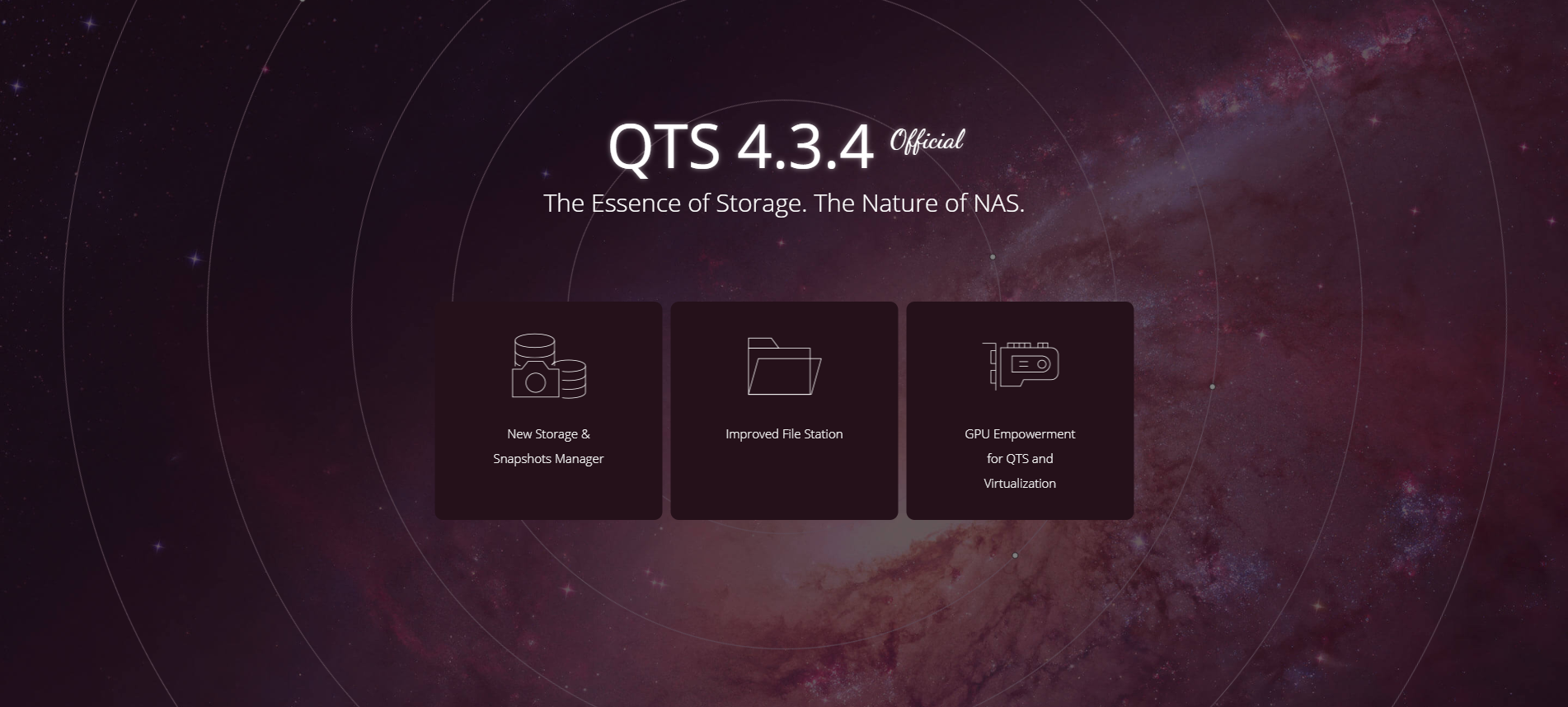 QNAP QTS 4.3.4 - Advanced Turbo NAS operating system