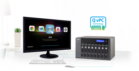 Use your TS-853 Pro as a PC with the exclusive QvPC Technology